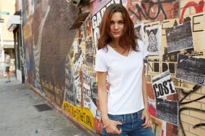 weißes damen t-shirt zum bedrucken