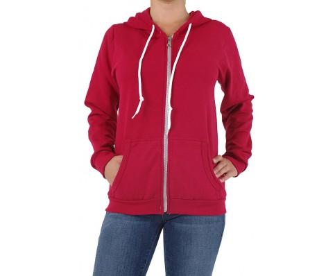 Sweatshirtjacke in rot für junge dame