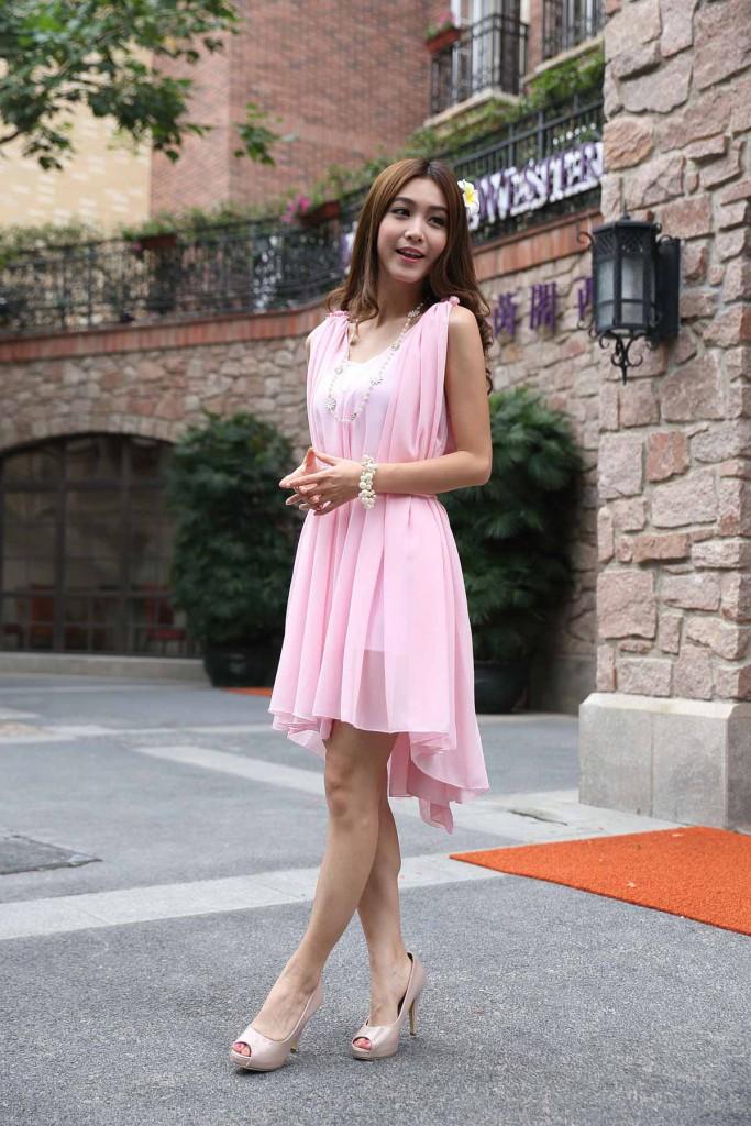 rosa-damen-kleid