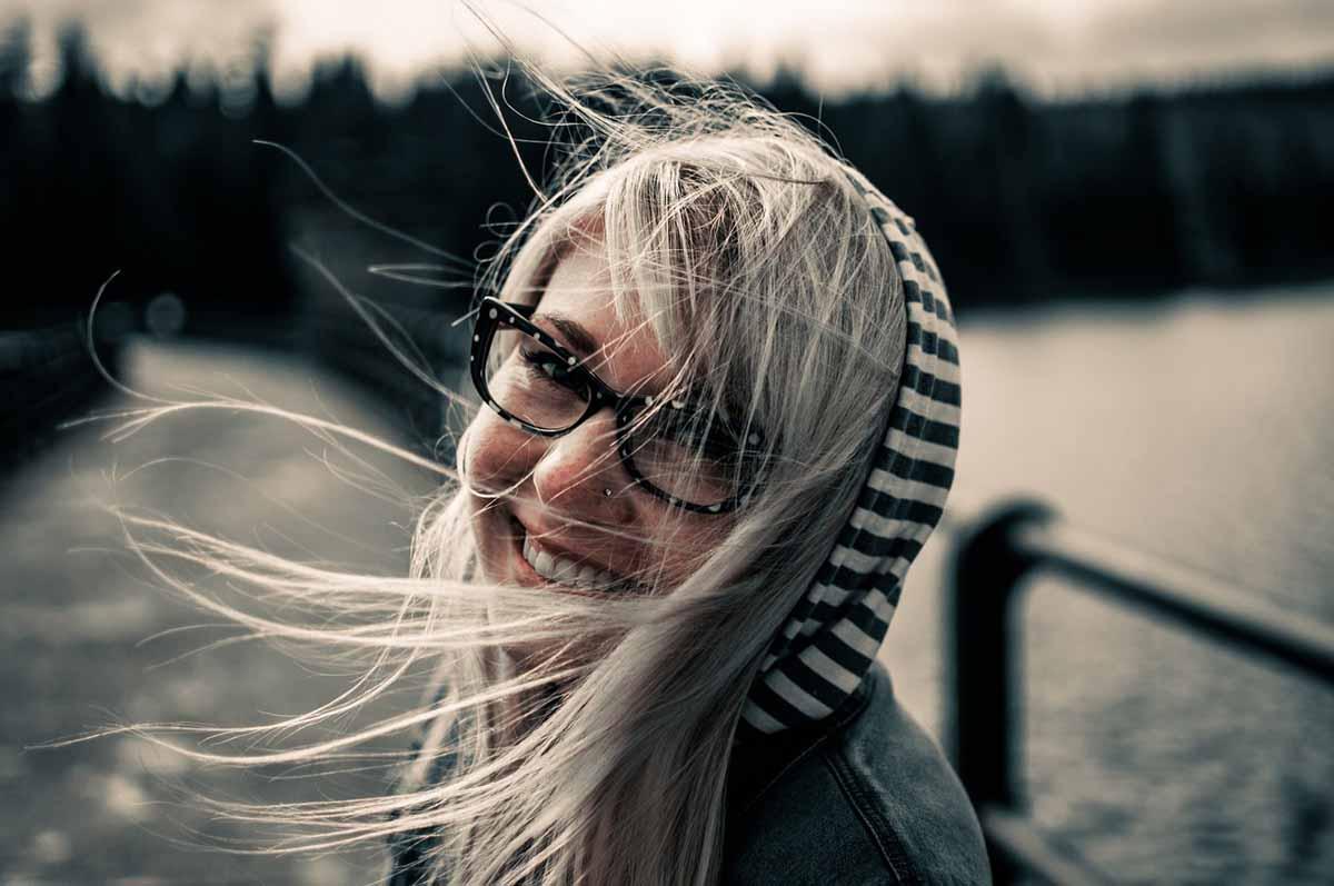 Brille Frau Hübsch