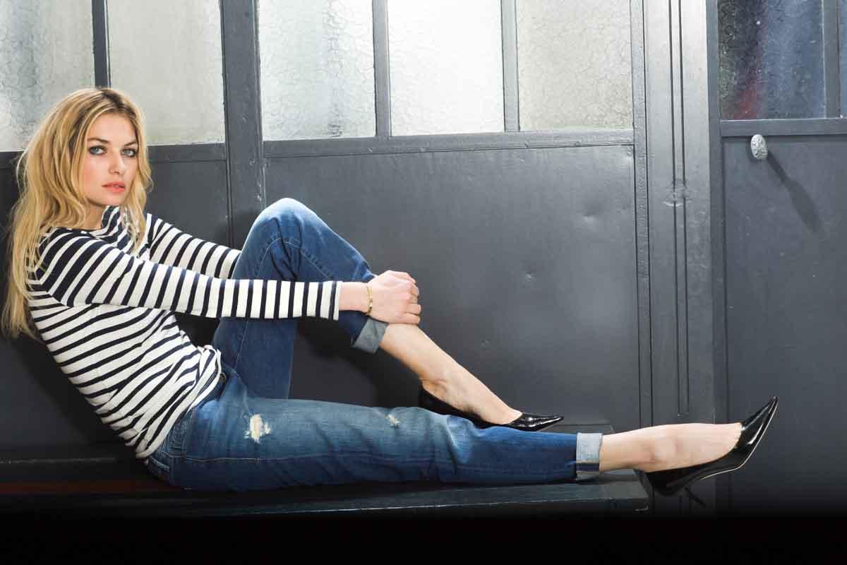 Frau Jeanshose Blond