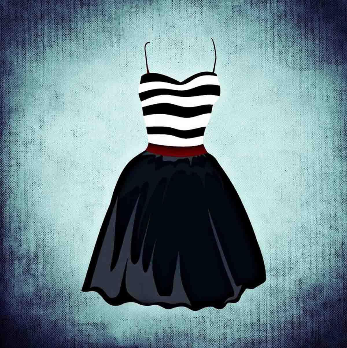 Kleid Streifen Grafik