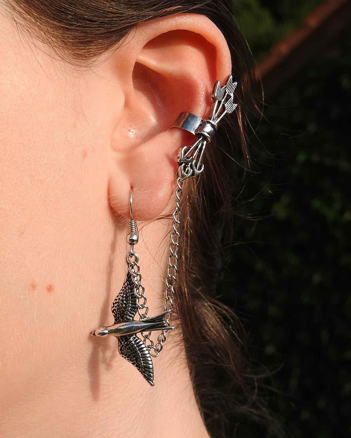 Schmuck Ohrring Vogel