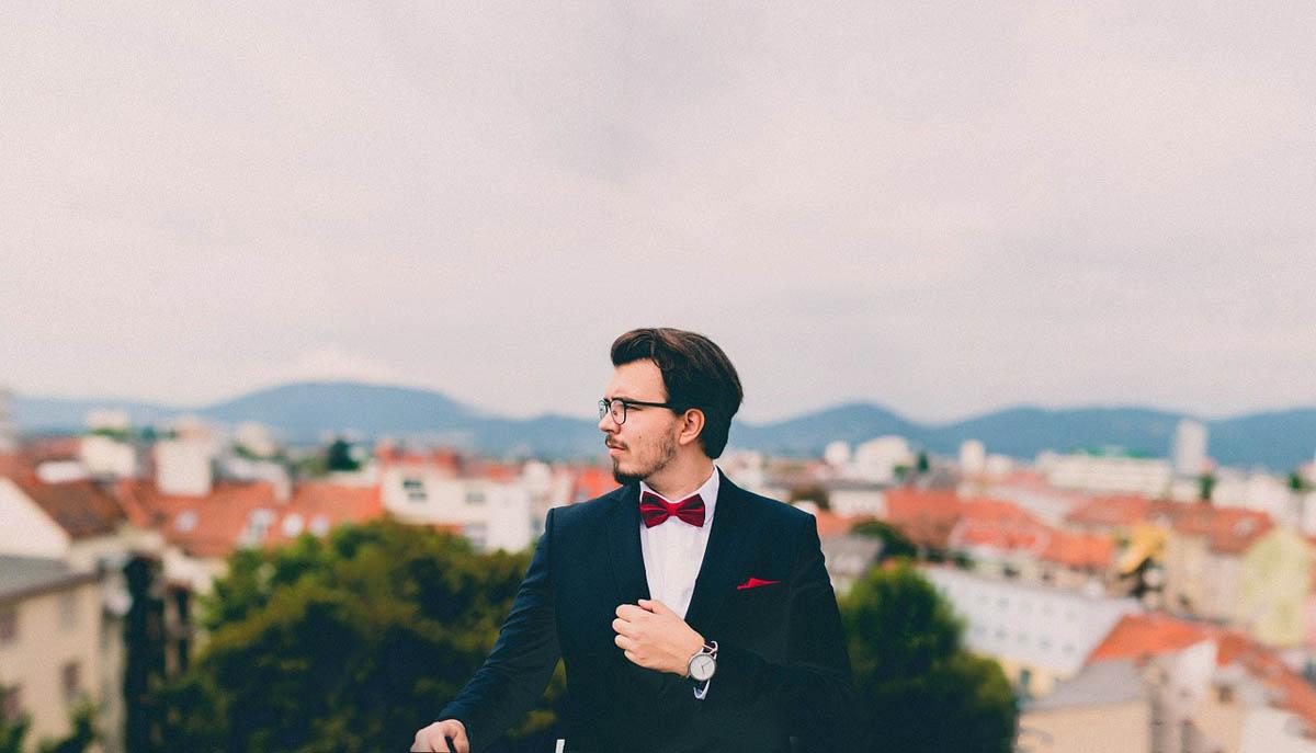 Bräutigam Anzug Hochzeit