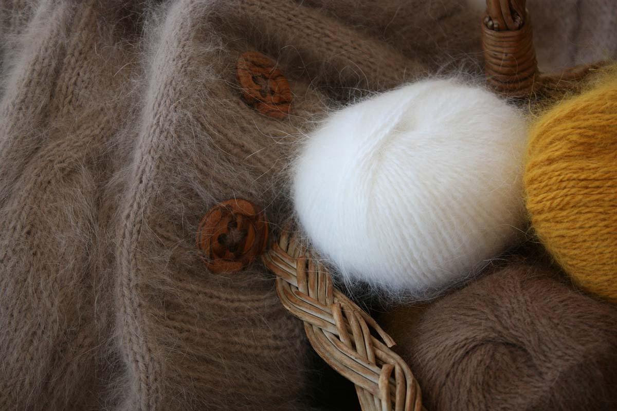 Angora Wolle Wollknäul