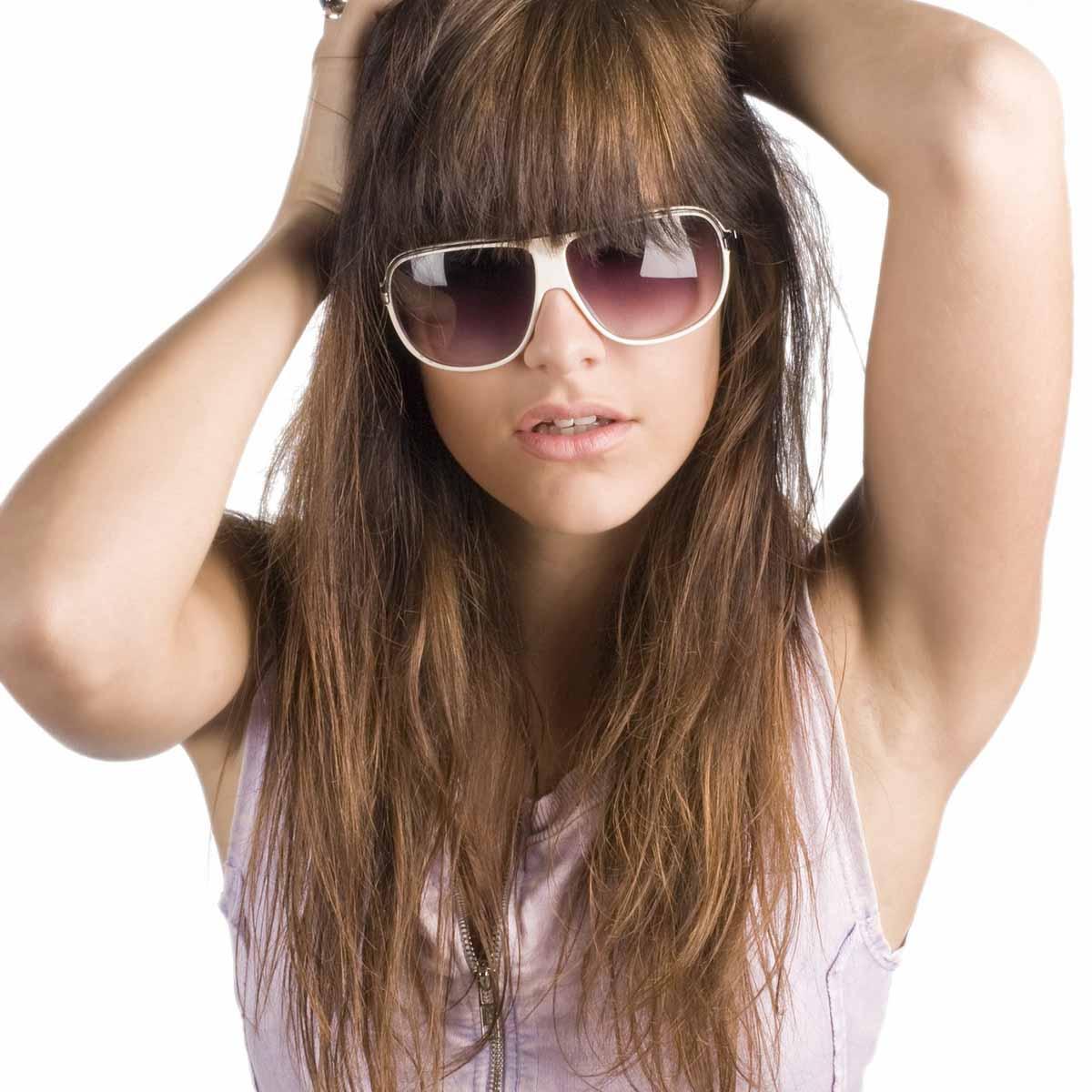 Haare Haarmodel Braun