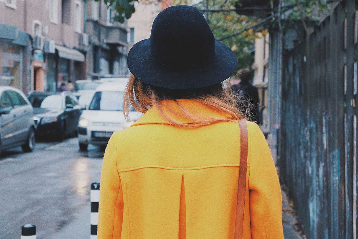 Mantel Gelb Hut