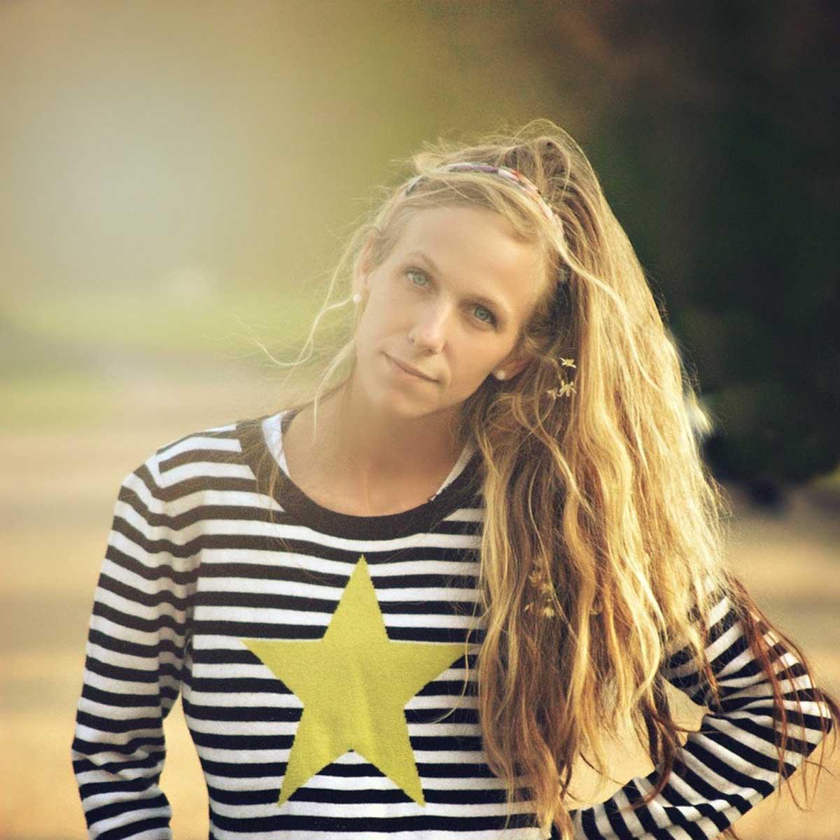 Streifen Pullover Blond