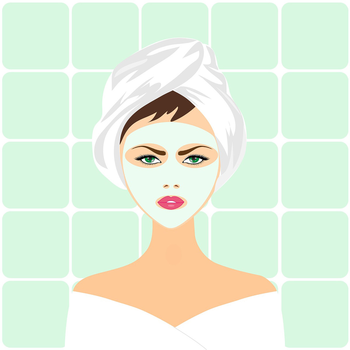 Gesichtsmaske Beautytag Frauentag