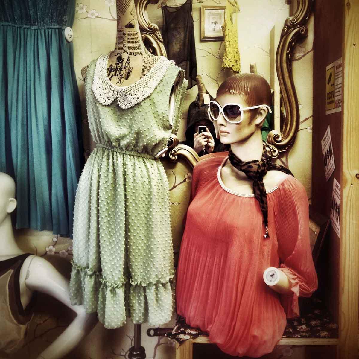 Kleid Grün Vintage
