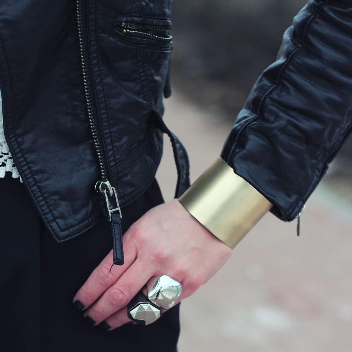 Lederjacke Schmuck Armband