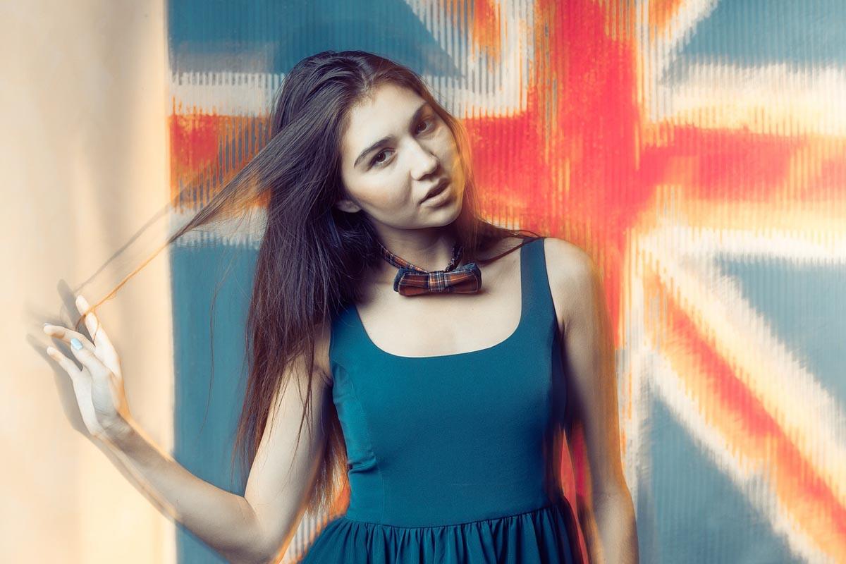 Kleid Türkis Blau