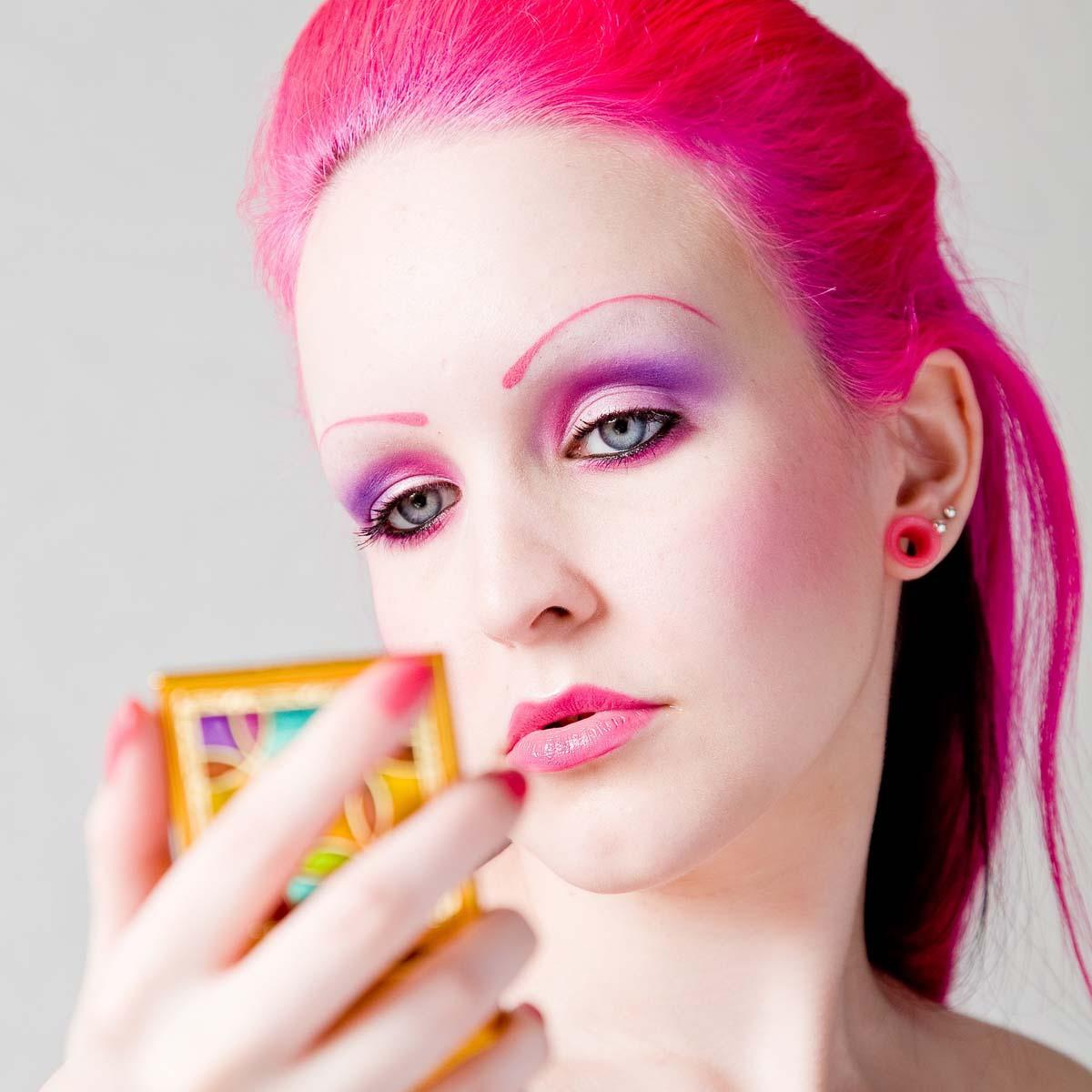 Pink Makeup Haare