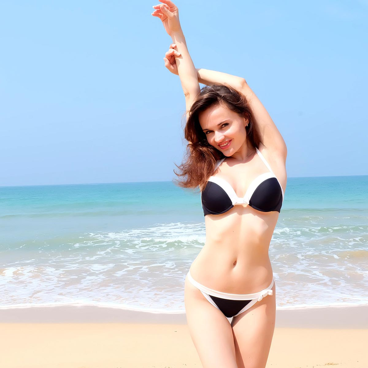 Bikini schwarz Strand