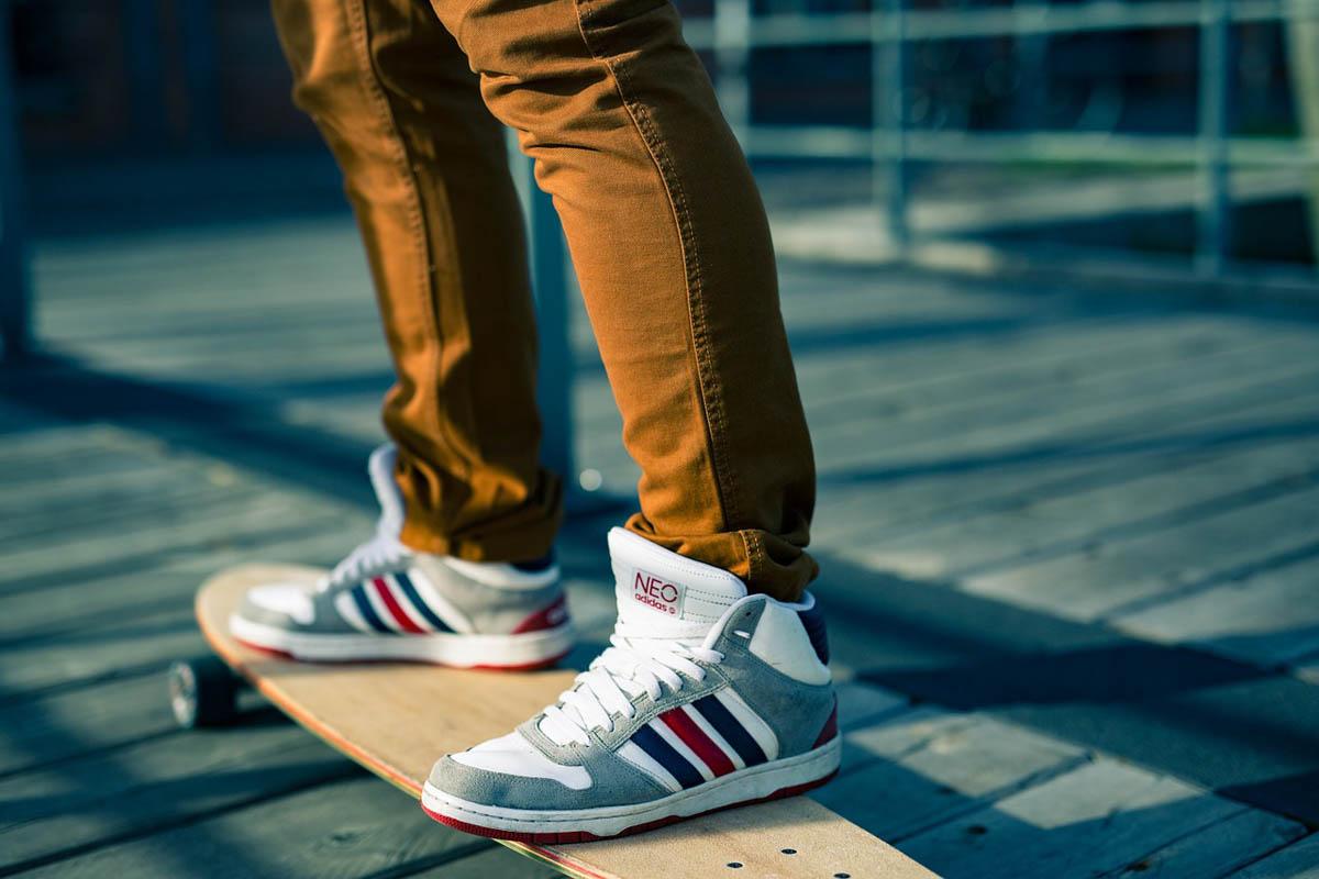 Turnschuhe Skater Skateboard