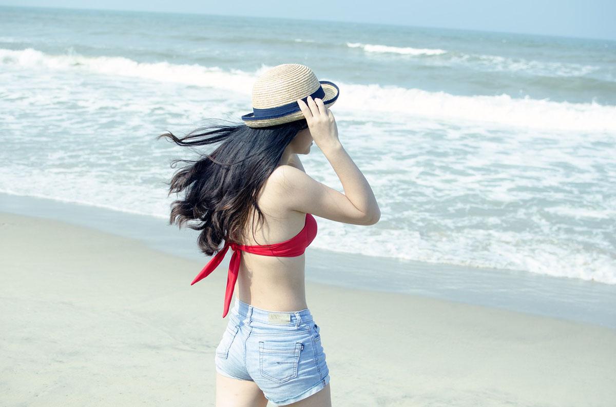 Bikini-Style Strandstyling Sonnenhut