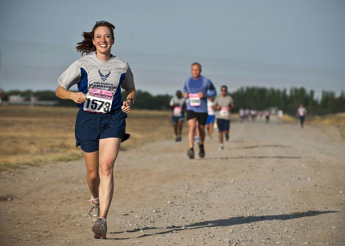 Laufen Marathon Rennen