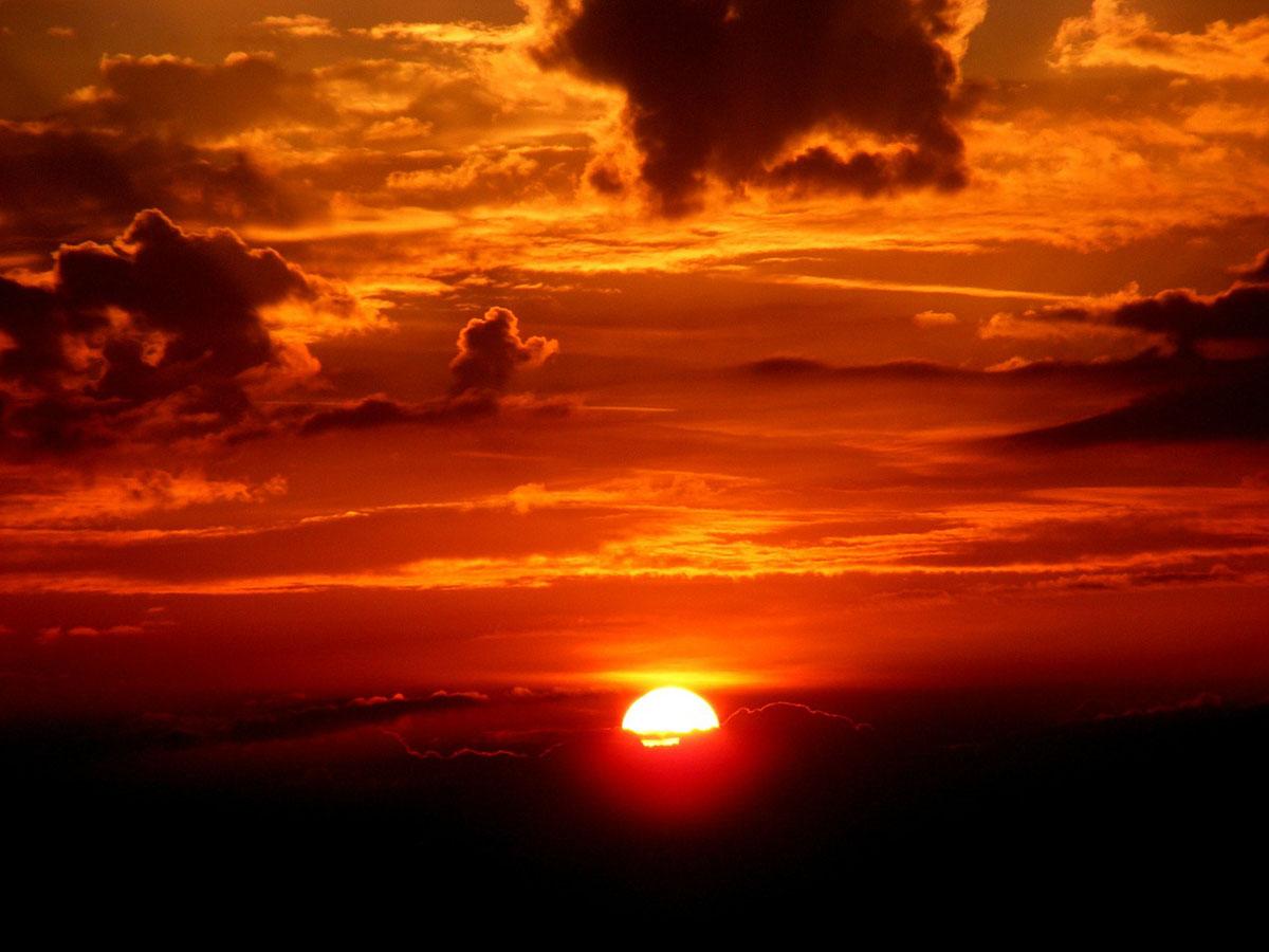 Sonne Sonnenuntergang Wolken