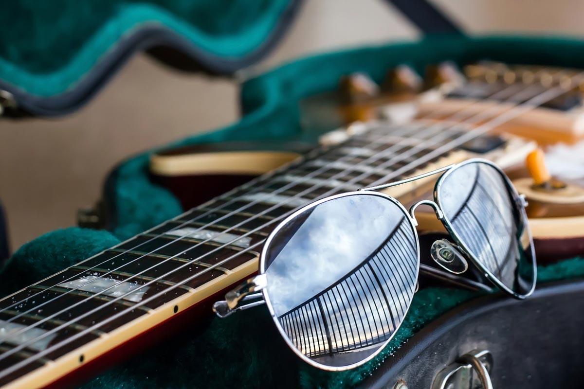 Gitarre Aviator Sonnenbrille