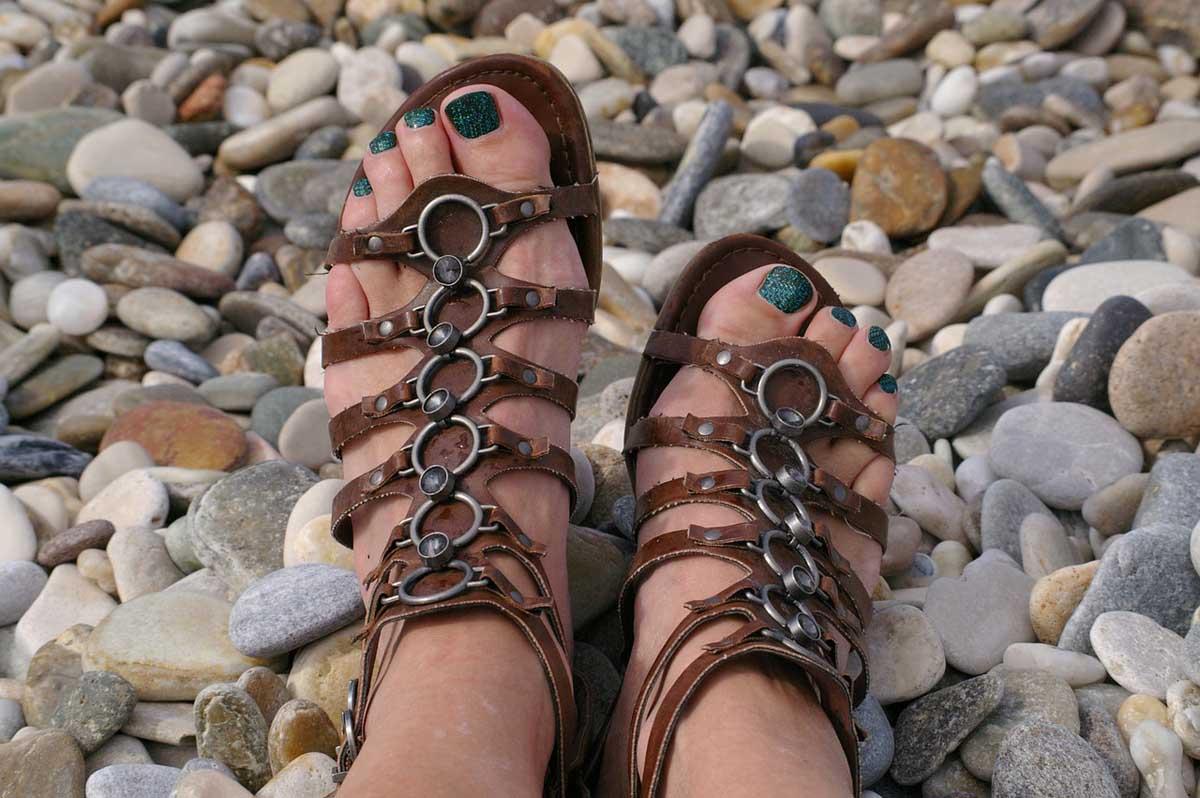 Gladiatoren Sandalen Schuhtrend
