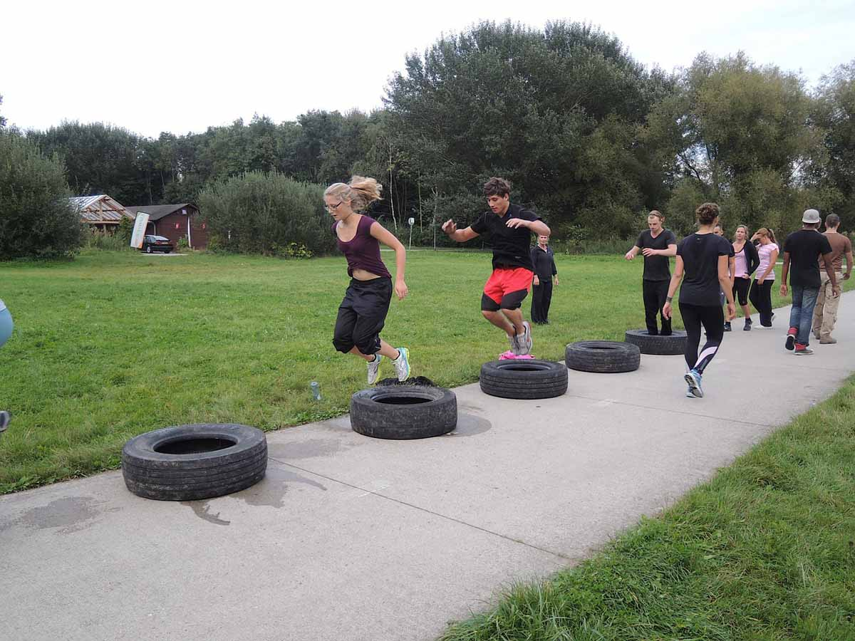 Sport Crossfit Hindernisparkour