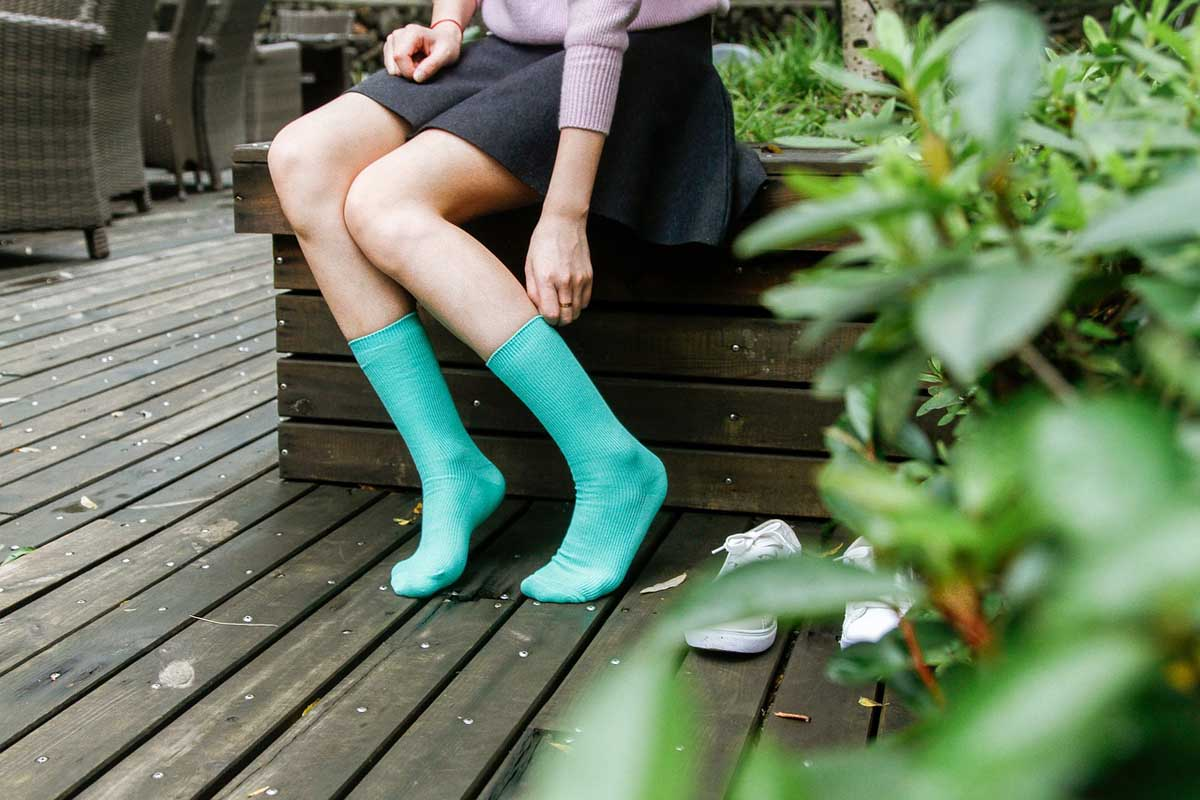 Socken barfuß Trendlook