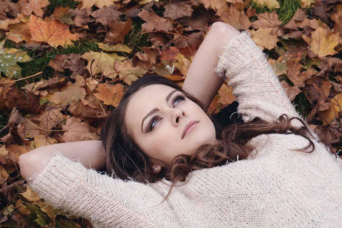 Herbst Haare Frau