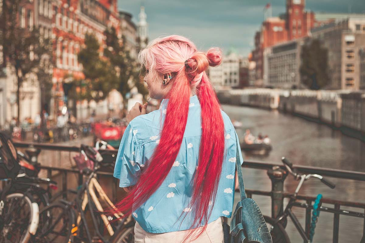 Farbverlauf Haare Rot