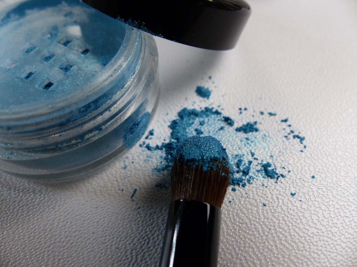 Blau Lidschatten Pinsel