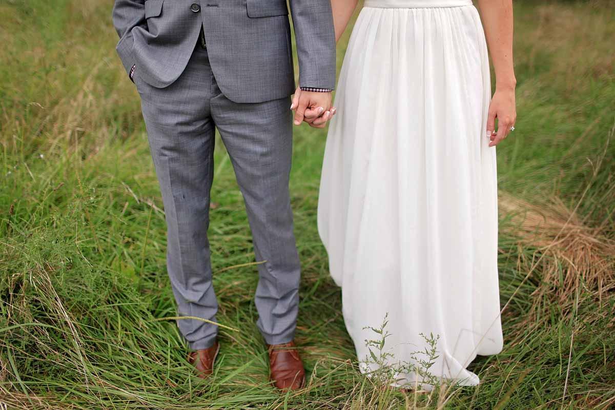 Hochzeit Brautpaar Hochzeitskleid