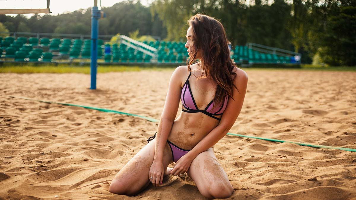 Bikini Volleyball Sonnencreme