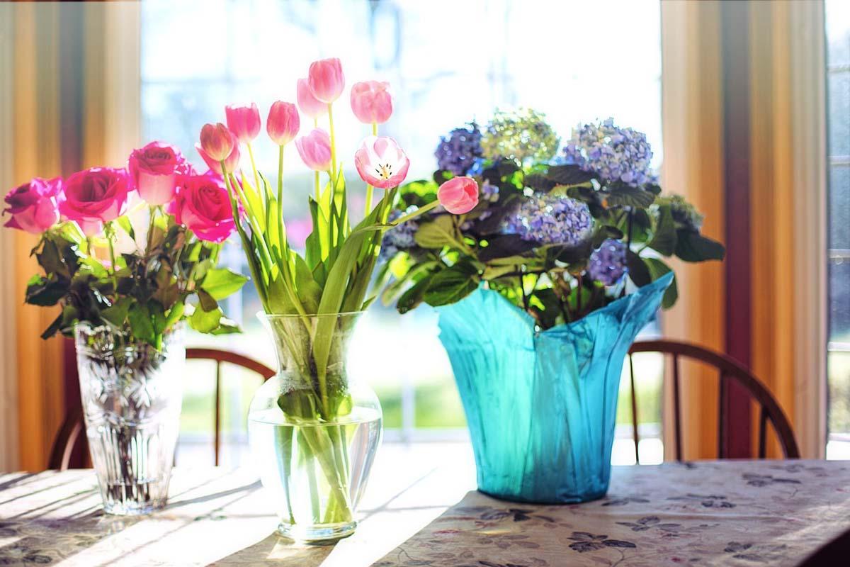 Rosen Blumenvase Tulpen