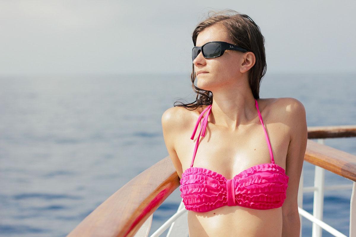 Bikini Oberteil Rüschen