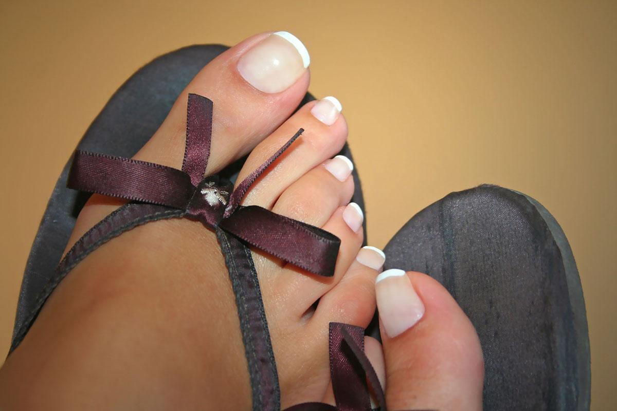 Füße Pediküre Nagellack