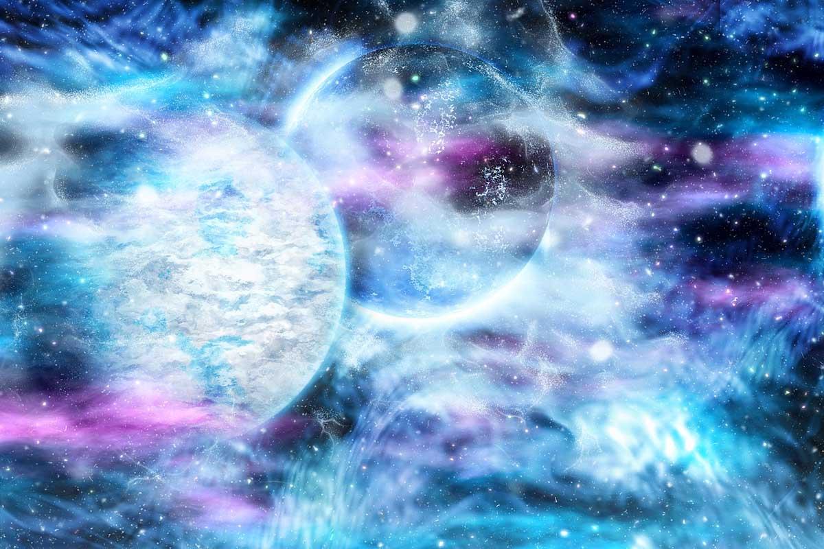 Mond Stern Galaxie