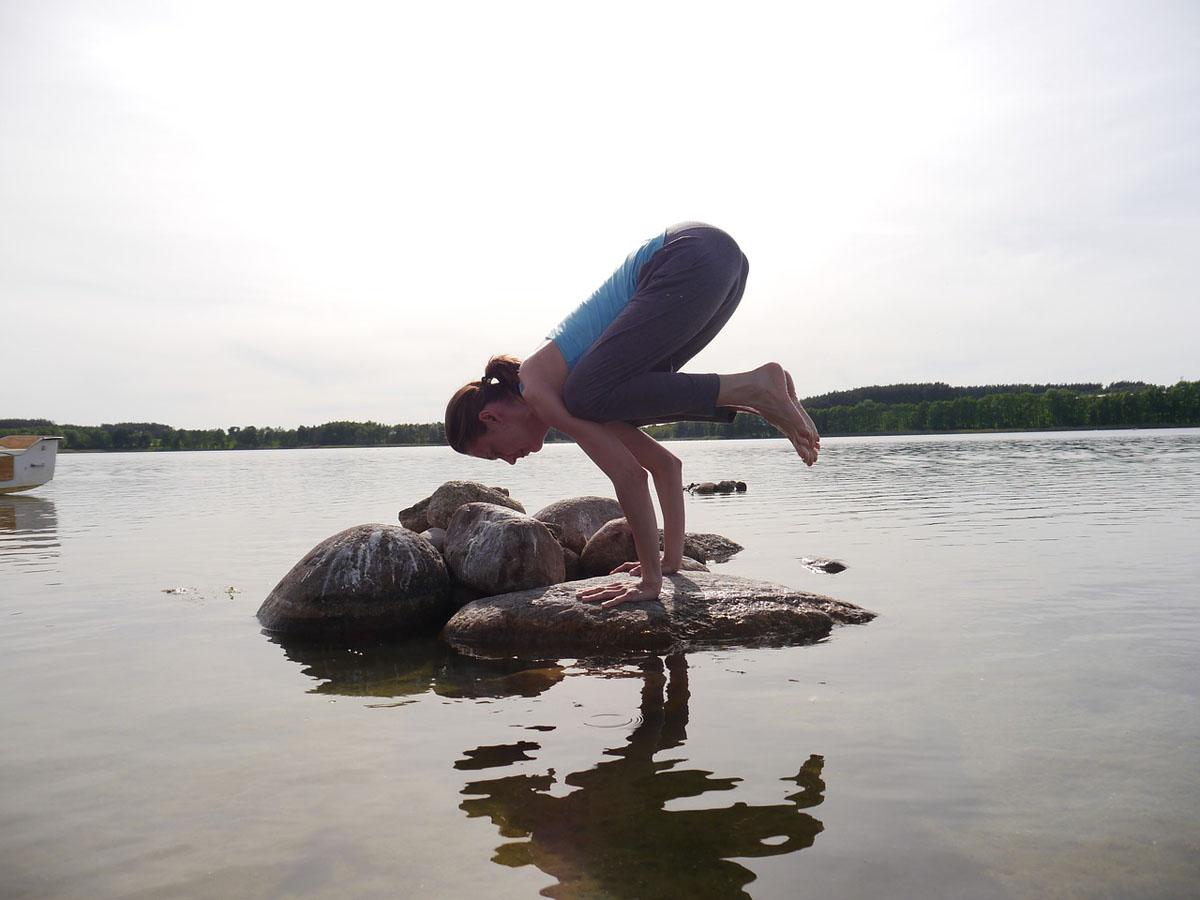 Yoga Figur Wasser