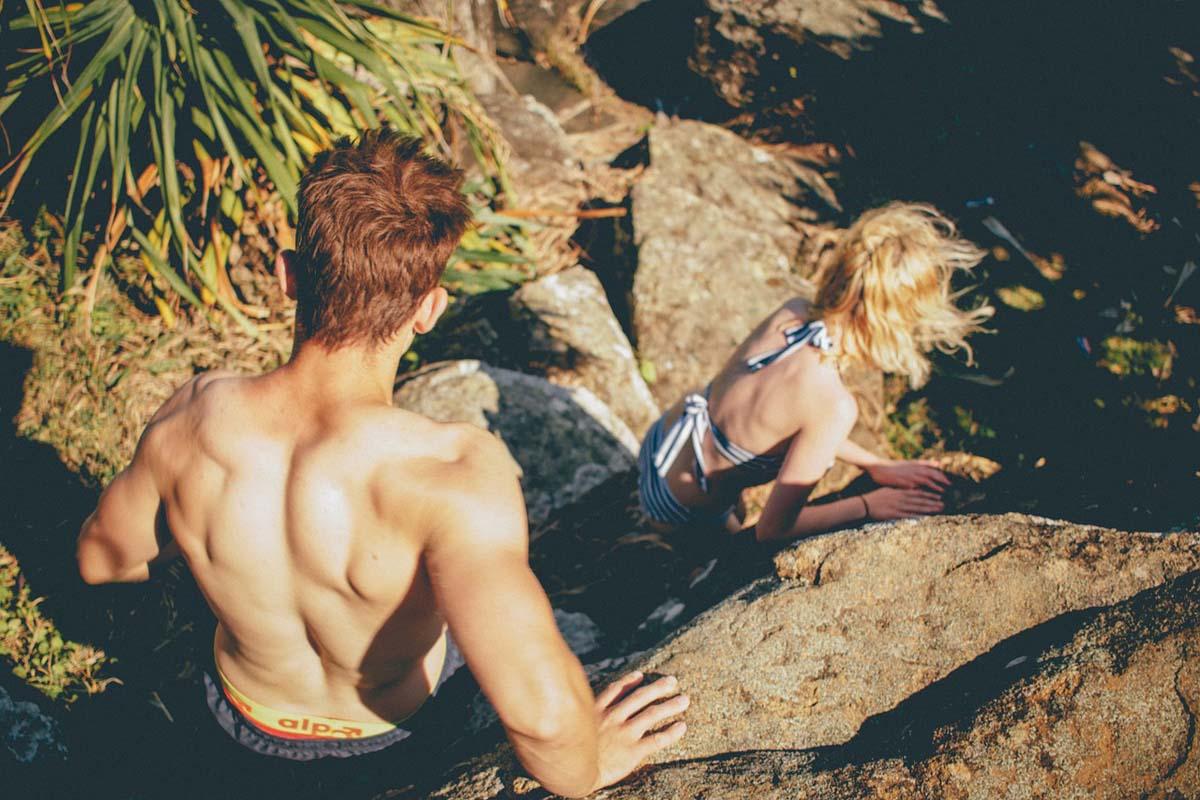 Muskeln Bikini Wandern