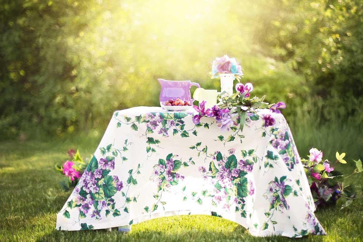 Tisch Garten Blumen