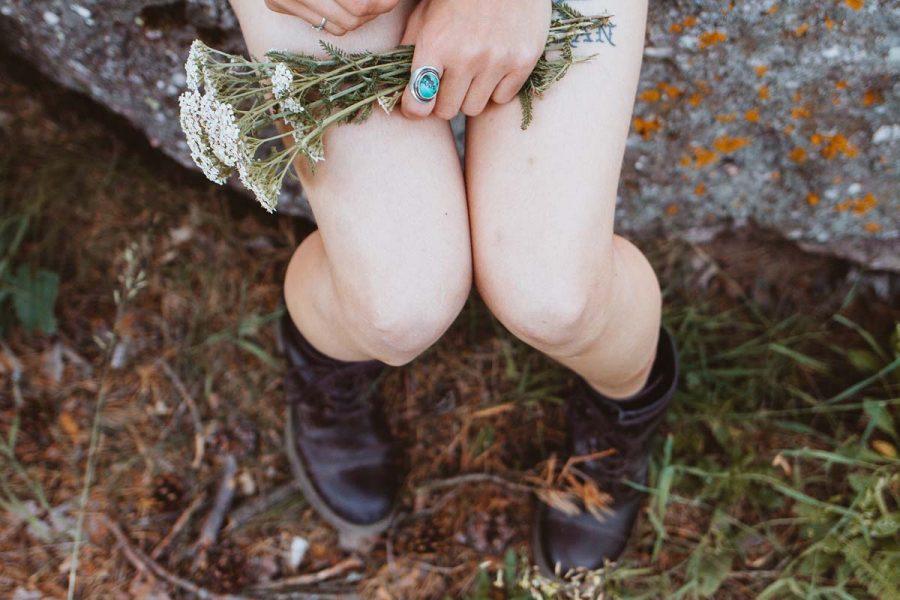 Boots Blumen Schuhe