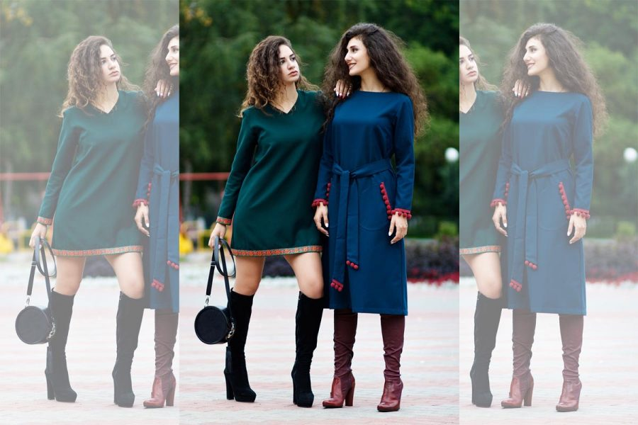 Trendfarbe Petrol Kleid