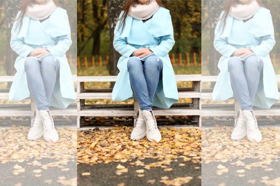 Mantel Jeans Schuhe