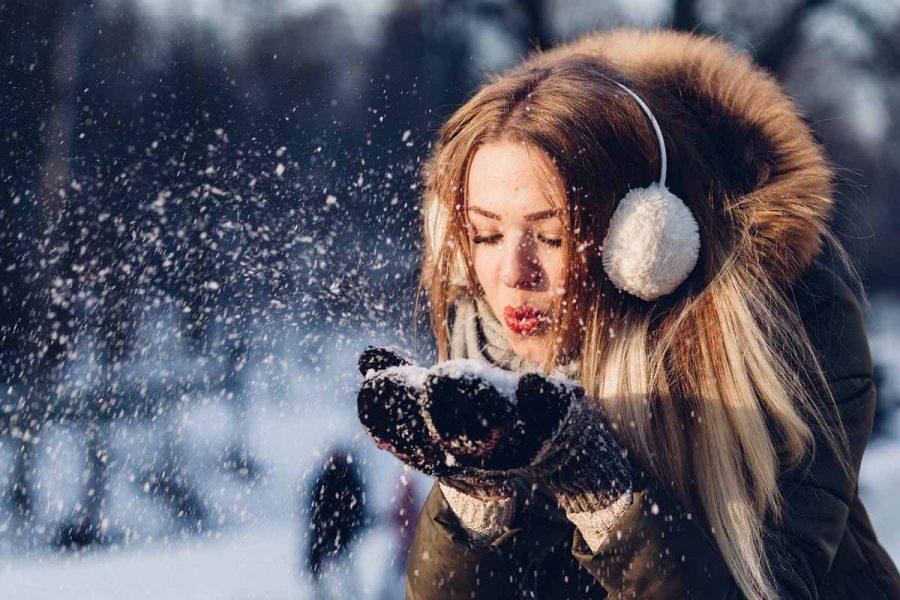 Schnee Handschuhe Mantel