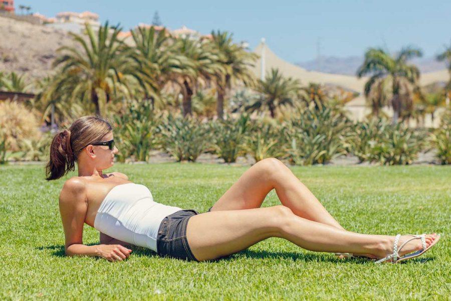Beine Sommerstyle Frau