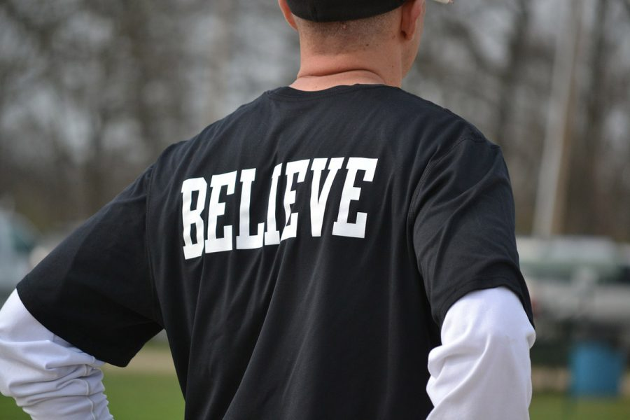 Believe Shirt Schwarz