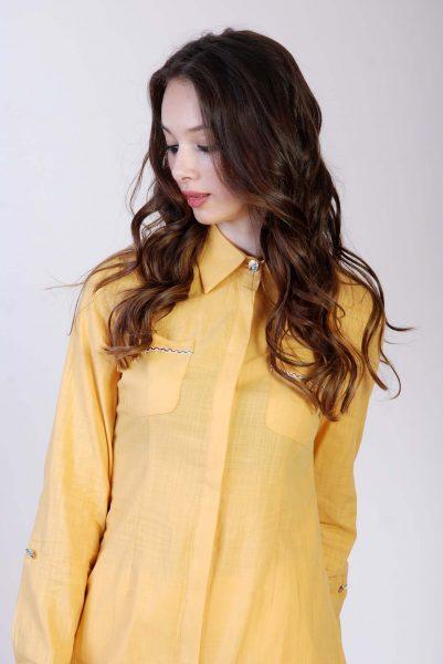 Bluse Gelb Frau