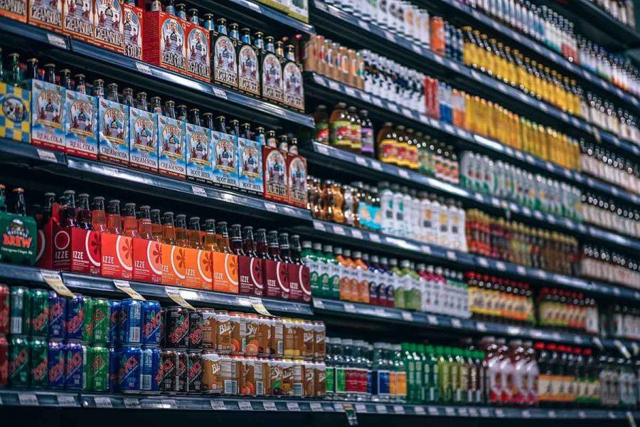 Getränke Supermarkt Regal