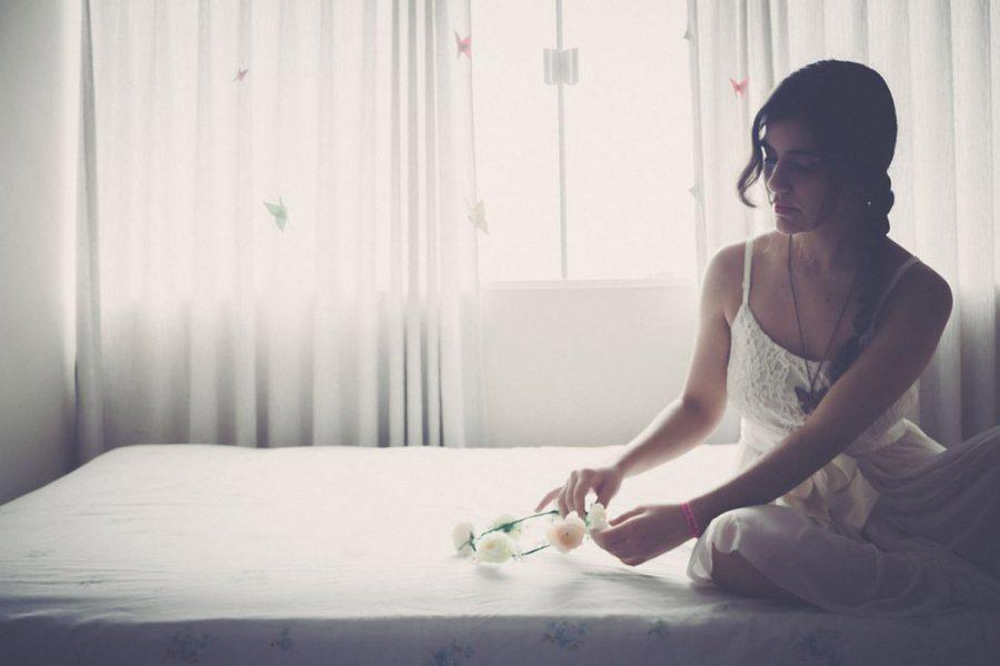 Kleid Bett Kopfschmuck
