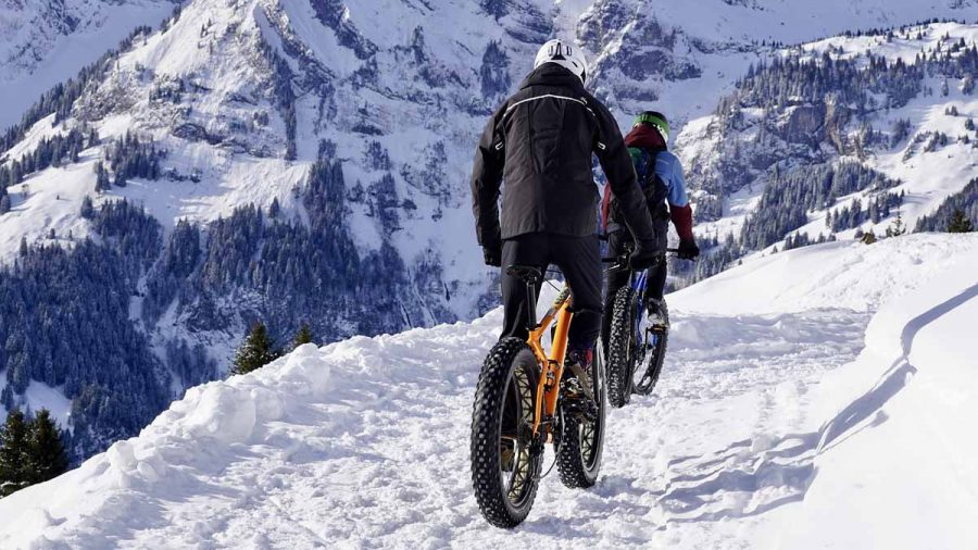 Radfahren Sport Schnee