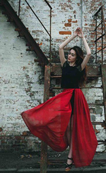 Rot Transparenz Fashion