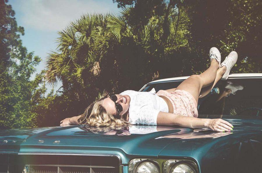 Shorts Auto Frau